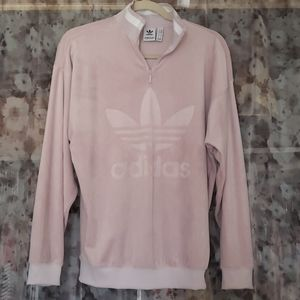 Adidas Velour Muave Pink Sweater Top